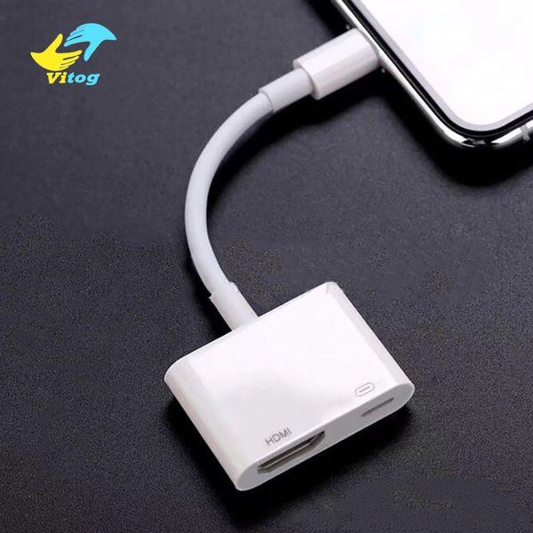 Adaptateur AV numérique 8 broches pour câble IP à HDMI pour IPX / 8/7 iPad Câble adaptateur HDMI Adaptateur audio / vidéo