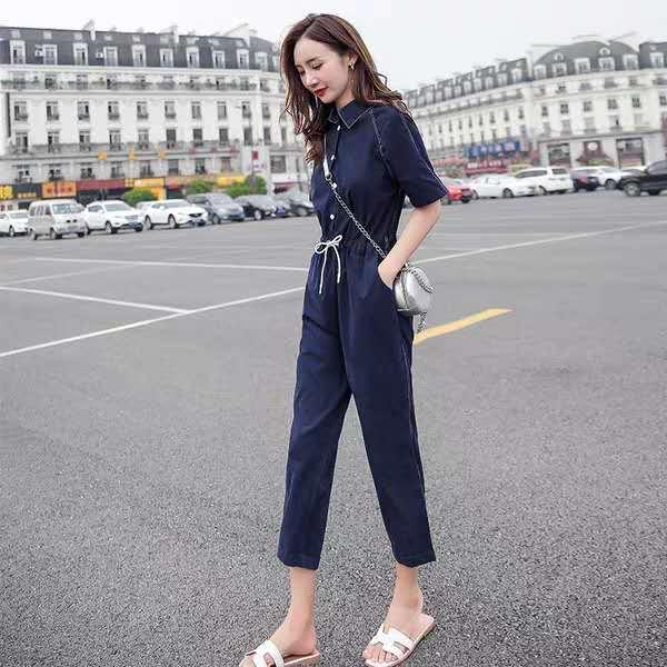 Kleidungsstück Damenbekleidung Xia 2019 neue koreanische Version der dünnen 7-Punkte-Hose Netzwerk rote hohe Taille lässig Trikotanzug Flut