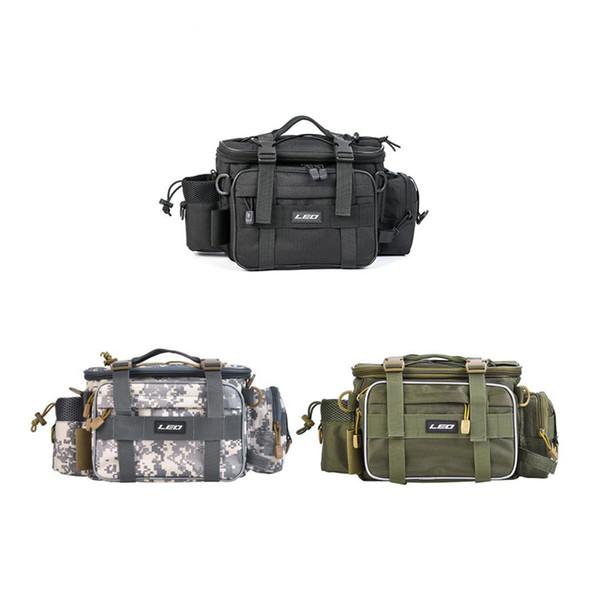 Multifunktions Angeln Aufbewahrungstasche 40 * 17 * 20 cm Outdoor Angeln Hüfttasche Köder Tasche Schulter Angelgerät Tasche ZZA528