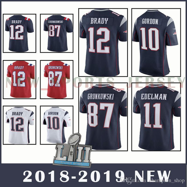 new arrival 9a6a6 08190 2019 Patriots 12 Tom Brady 87 Rob Gronkowski 11 Julian Edelman Men'S  Football Jerseys Top Quality Red Jersey New Edition From Welove_jersey,  $23.25 | ...