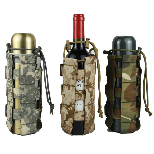 top popular Tactical Molle Water Bottle Pouch Oxford Canteen Cover Holster Outdoor Travel Kettle Bag With Molle System 0.5L-2.5L 2019