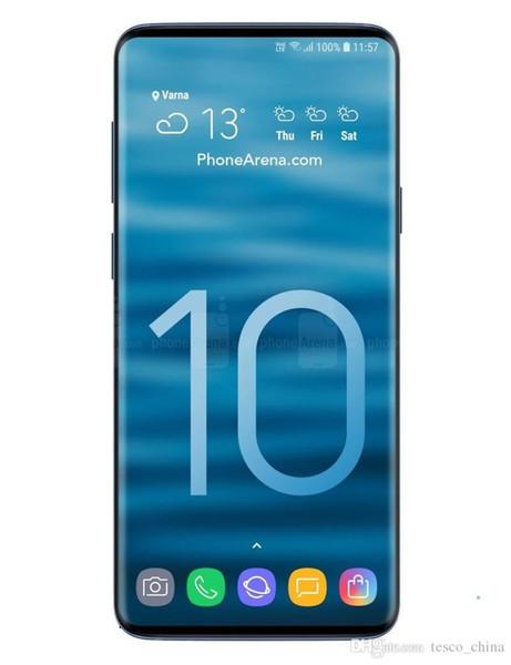 3000 mah 6.3 inç Goophone S10 Iris Parmak Izi Kilidini MT6580T 3G 1900 gösterisi Sahte 4G LTE 64 GB akıllı telefon