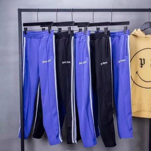2018 yeni üst Kore Hip-Hop En Iyi sürüm Palmiye Melekler PA Retro Yan ekleme Fermuar Erkekler Kadınlar İpli Sweatpants pantolon 5 Renk