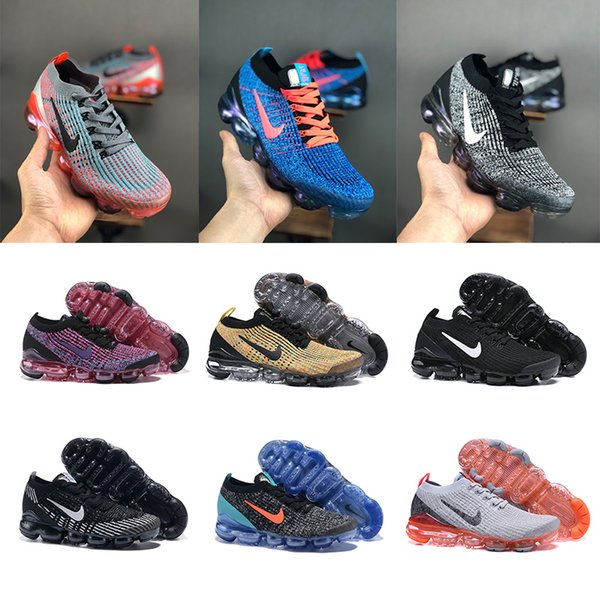 2019 Fly 3.0 Vapor Knit 2.0 Maxes Mens Running Shoes Purple silver Blue orange Air Cushion Womens Sports Sneakers Designer Shoes