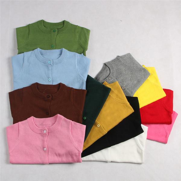 21 cores Novo design bebê menina camisola primavera outono crianças malha camisola cardigan crianças primavera desgaste de boa qualidade E1238
