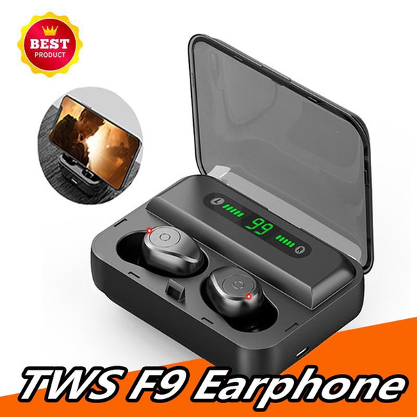 1 PCS Earphones F9-5 Bluetooth Wireless Headphones Sport In Ear TWS Gaming Headset Noise Cancel True Wireless Earbuds with Mic