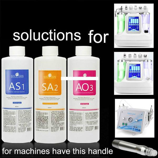 Cuidados com a beleza Cuidados Pessoais 2019 Hydra Máquina Aqua Peel Solução AS1 SA2 AO3 Facial Serum Garrafa para Hydro Oxygen Beauty Machine