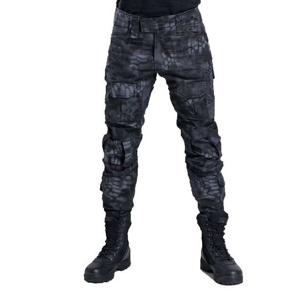 2019 Tactical Pants Men Camouflage Pantalon Frog Cargo Pants Knee Pads Work Trousers Army SWAT Combat Trousers