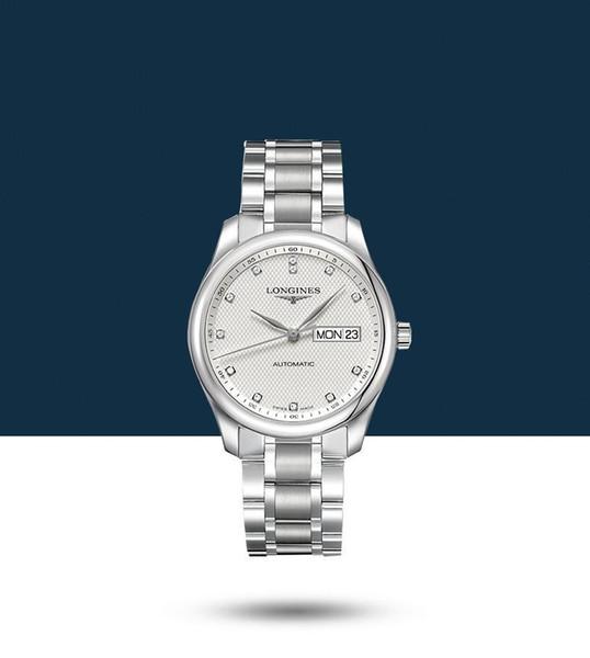 new brand longine watch new Watch for lady women men business steel calendar lazada wholesale cross border Watch Free shipping1f09#