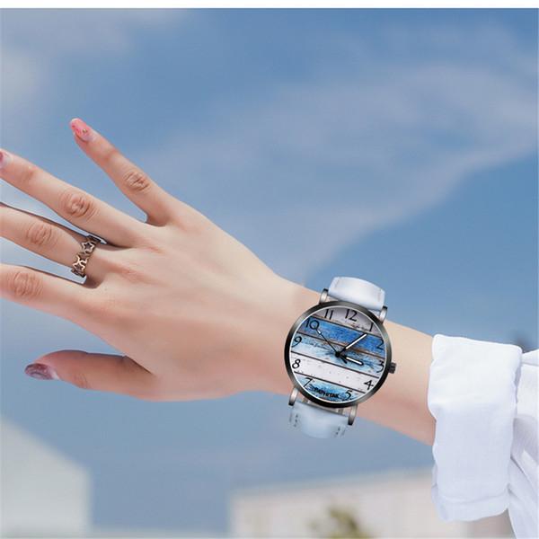 Couple Mode Rétro oiseau Design Bande en cuir analogique alliage bracelet à quartz reloj mujer damski Bracelets 2019
