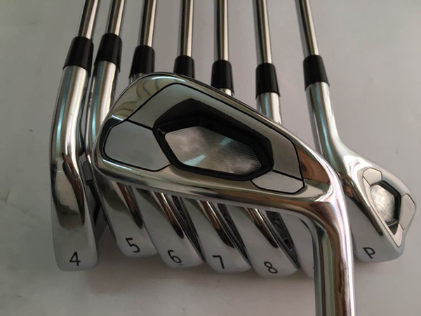 Top quality golf clubs A3 718 with steel shaft and Snowflake grips 3-9P Irons Set free shipping