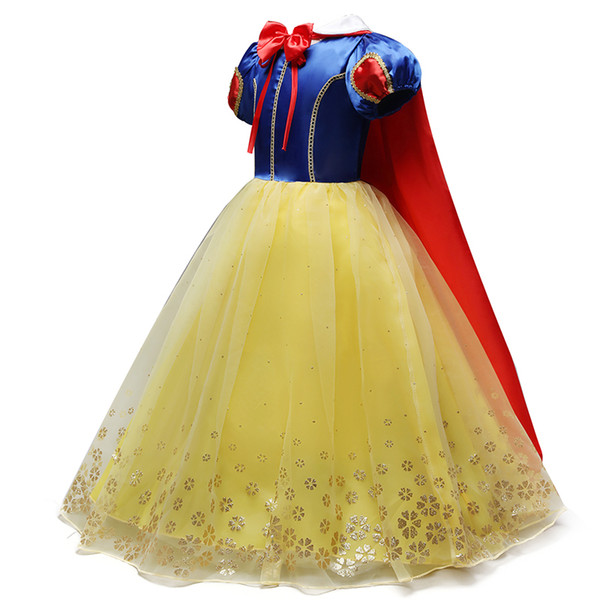2019 Children Girl Snow White Dress for Girls Prom Princess Dress Kids Baby Gifts Intant Party Clothes Fancy Teenager Clothing
