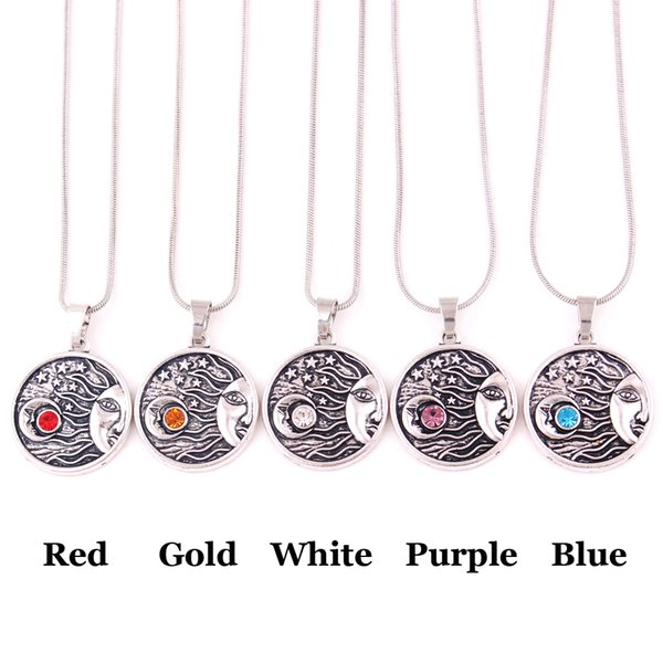 HS02 classic moon sun shape with star design funeral urn religious pendant necklace jewelry