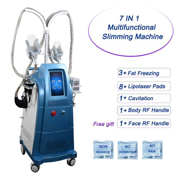7 EN 1 machines de cryolipolyse graisse de congélation lipo laser cavitation corps RF minceur machines de perte de poids cryo lipolyse utilisation du spa