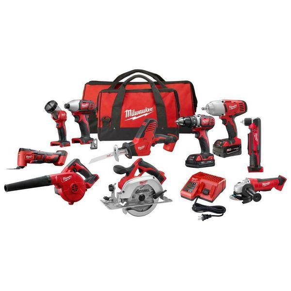 Milwaukee m18 cordle combo tool kit 10 tool drill impact circ aw multitool