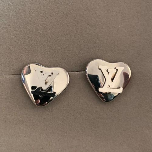 2019 Fashion brand Stud Earrings 18K gold silver rose gold stainless Steel heart Classical Love Earrings For Women couple Jewelry gift