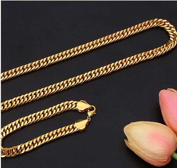 Luxury Designer Necklace Luxury Mens Necklace Hip Hop Designer Bracelet Fashion Jewelry Titanium Steel Combination Set Hot Sale