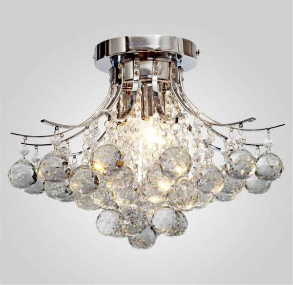 Moderna Plafoniera a LED Plafoniera in cristallo Applique a sospensione Lampade a sospensione Plafoniera Chrome Illuminazione domestica Art