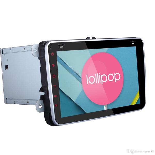 Quad Core 1024 * 600 2 Din Android 5.1.1 VW Car DVD GPS Navi GOLF 6 Polo Bora JETTA PASSAT Tiguan