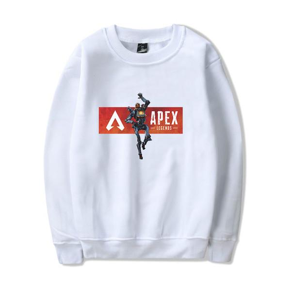 2019 Hot Apex Round neck Sweatshirt Men/Women Cotton Warm Apex Legends Round neck without cap White Sweatshirts 4XL