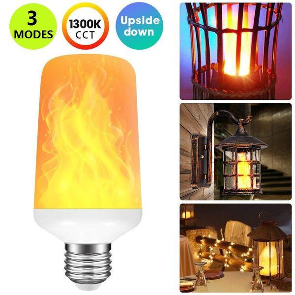 3 Modi Schwerkraftsensor Flammenlicht E27 E26 E14 B22 LED Flammeneffekt Feuer Glühbirne 7W Flackernde Emulation Dekor Licht