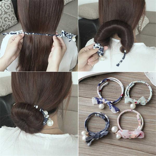 Woman Donuts Bud Head Band Ball French Twist Magic DIY Tool Hair Bun Maker Sweet Dish Made Hair Band Hair Braider