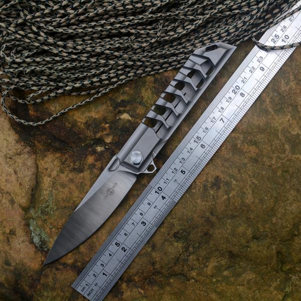 TWOSUN TS100 flipper klappmesser M390 klinge keramikkugellager washer eine feste TC4 griff outdoor camping jagd taschenmesser EDC werkzeug