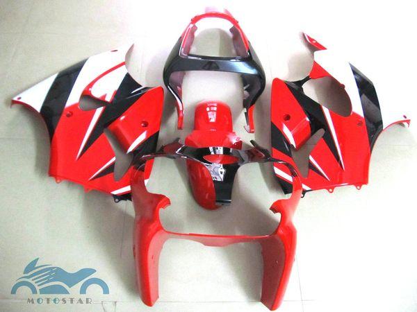 Injection fairings for Kawasaki Ninja ZX6R 2000-2002 red white black fairing kit ZX6R 00 01 02 OT58