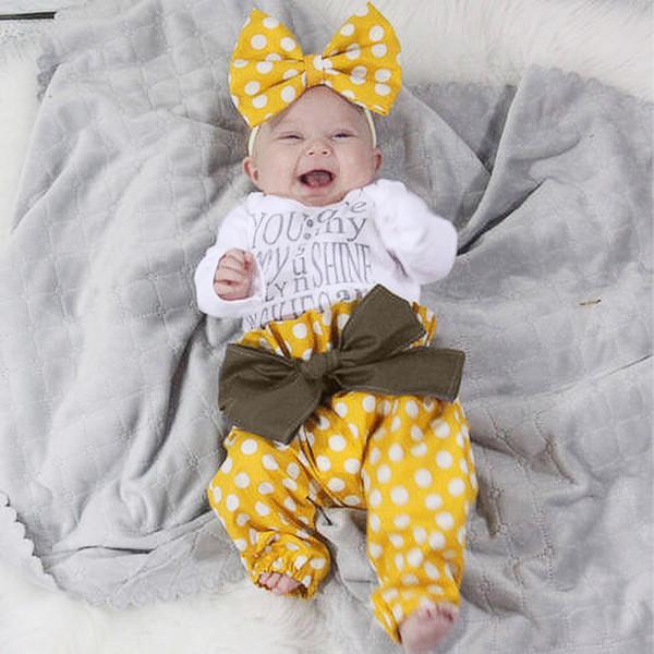 9b4283075 Buena calidad Nueva llegada de los bebés ropa conjunto 3PCs impresión de la  letra mameluco +