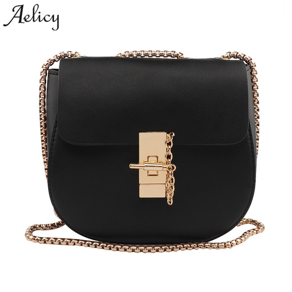 Aelicy Fashion Womens design Chain Detail Cross Body Bag PU Leather Ladies Women's Purses And Hand Bags Crossbody Bags For Women
