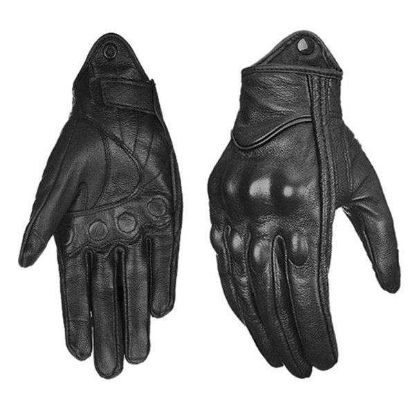 Hot sale Motorcycle Gloves Leather Touch Screen Moto Glove Full Finger moto Men Electric Bike Motocross Protective Gear Cycling Bike D-01