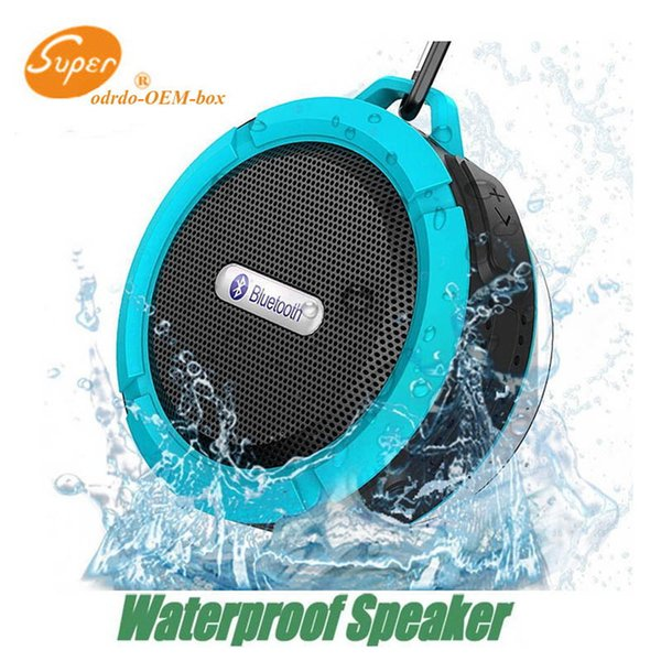 C6 waterproof bluetooth speaker outdoor sports suction cup mini small speaker phone car, the low-pitched sound factory direct sales