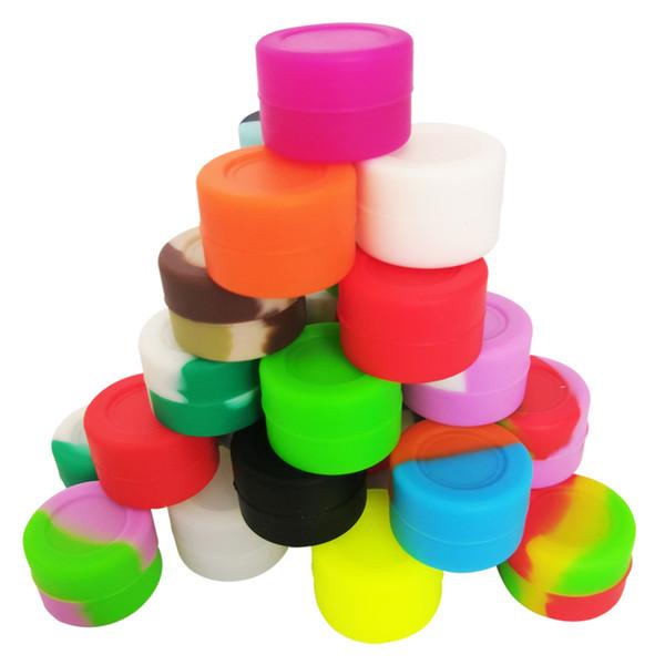 Kalite FDA onaylı gıda sınıfı yapışmaz yağ kaygan konsantre balmumu yağı bho 3 ml silikon kavanoz silikon bho konteyner 26x15mm