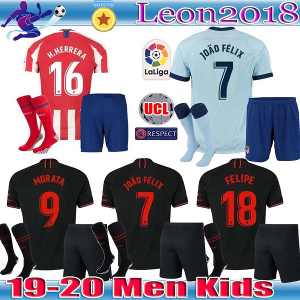 men kids 19 20 joão félix atletico de madrid soccer jerseys 2019 ...