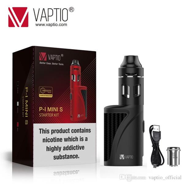 vaporiseur de vapeur e cigarette Vaptio 1300mAh P1 S Mini Kit construit en vape mod 50W Vape KIT 2,0ml évaporateur atomiseur 0.15ohm bobine