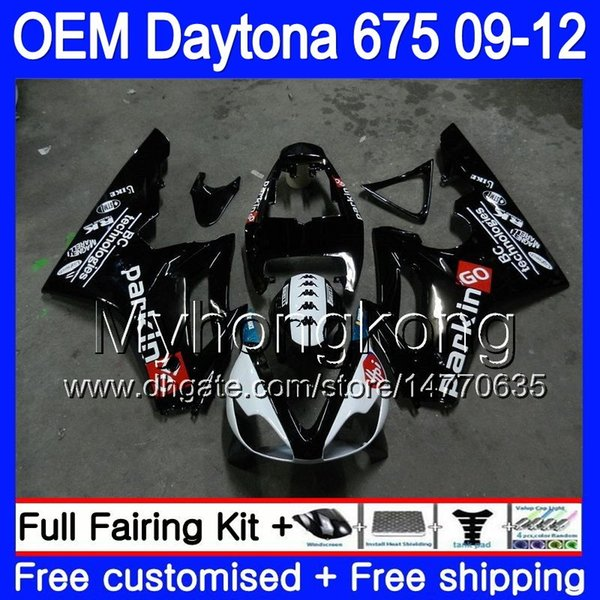 Injection For Triumph Daytona 675 2009 2010 2011 2012 Body 323HM.39 Daytona-675 Daytona675 Daytona 675 09 10 11 12 OEM light black Fairing
