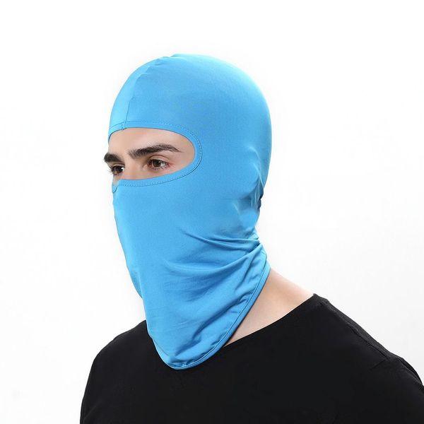 Outdoor Riding Hat Lycra Windproof Sunscreen Dustproof All Seasons Solid Casual, Sports Mask Headgear