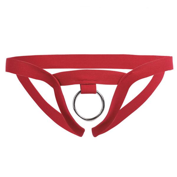 Men Nylon Lingerie Sexy Underwear Open Butt Sissy Panties String Homme Bikini Briefs Gay Underwear O-Ring Crotchless Mens Thongs