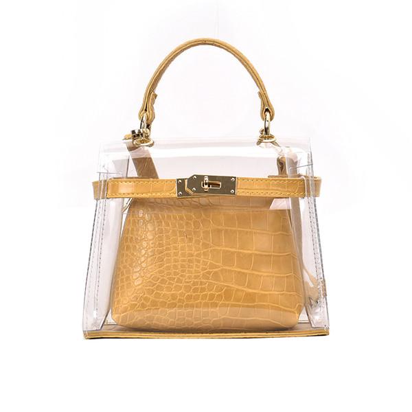 Tasche für frauen 2019 luxus handtaschen frauen taschen designer pvc transparent strandtasche frauen schulter crossbody klar
