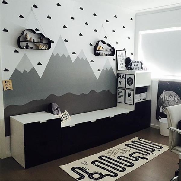 Little Cloud Decorative Stickers Baby Boy Rooms Wall Stickers For Kids Room Nursery Girl Room Wall Decal Stickers Kids Bedroom
