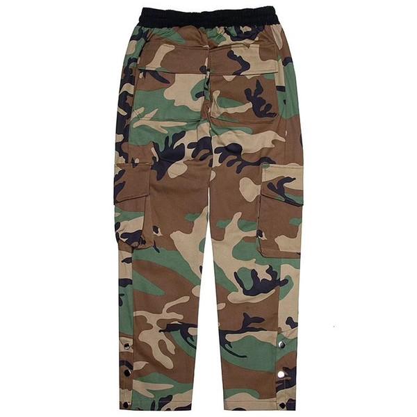 Rhude Pantalons Hommes grandes poches 1: 1 de haute qualité camouflage Joggers Sweatpants Pantalon Hommes Jogger Pantalon Army Rhude Camo # 866y