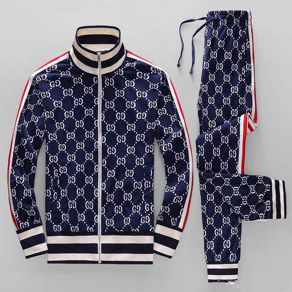 top popular Men's Tracksuits Sweatshirts Suits Luxury Sports Suit Men Hoodies Jackets Coat Mens Medusa Sportswear Sweatshirt Tracksuit Jacket sets 2019