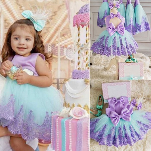 Girls First Birthday Dress for Newborn Baby Toddler Princess Halloween Carnival Dresses Kids Girl Party Prom Gown Clothing