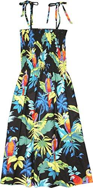 Pappagalli tropicali delle donne di RJC Hawaiian Smocked Sundress