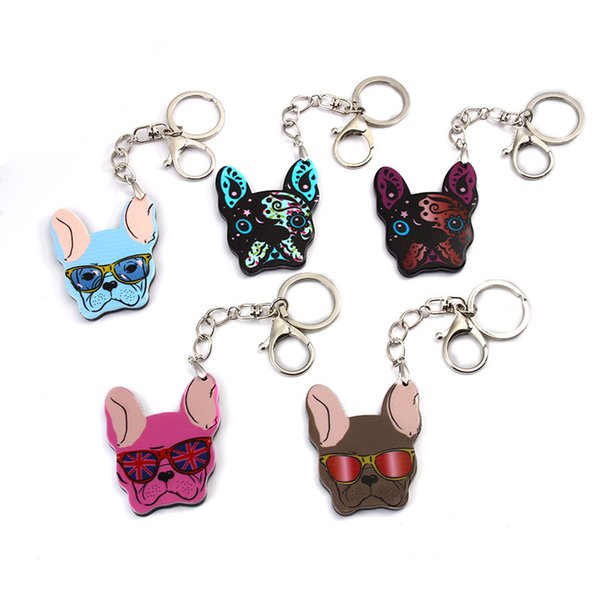 Fashion Corgi Pet Key Buckle Cute Dog Head Keychain Bag Pendant Gift For Women Children Daily Supplies Hot Sale