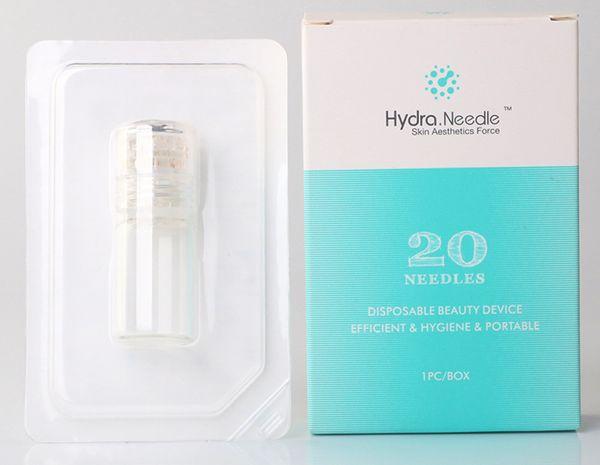 Aiguille Hydra automatique 20 bouteille Aqua Micro Channel timbre de derma système Fine Touch aiguille doré
