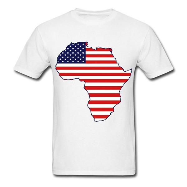 Afroamerikaner Kontinent Flagge Mes T-shirt Sommer Druck Mann Baumwolle Mode Kurzarm Männer Hohe Qualität T-Shirt Tops Sommer
