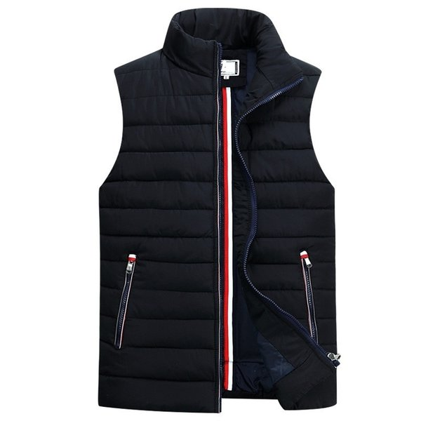 2019 chaleco sin mangas de los hombres Homme abrigos casuales de algodón masculino acolchado de algodón chaleco engrosamiento hombres más el tamaño 5XL