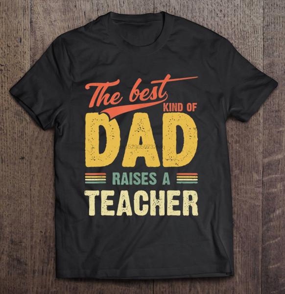 Мужчины смешные футболки мода футболка лучший вид папа поднимает Учитель старинные версии женщин футболки