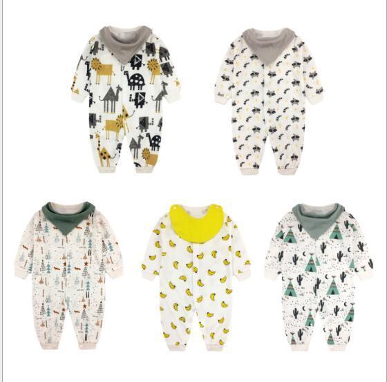 2019 CALDO !!! Vestiti per bambini Pagliaccetti vestiti per bebè a maniche lunghe in cotone per bambini